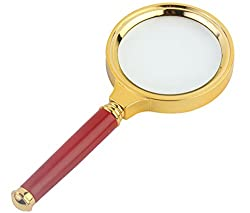 7TREES Antique Handheld Magnifier Magnifying Glass, 3X / 70mm