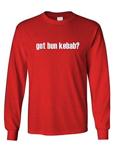 Got Bun Kebab? - Mens Cotton Long Sleeved T-Shirt, M, Red