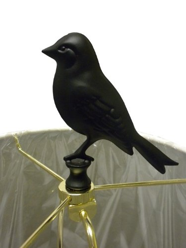 of a kind birdcage lamp this black metal lamp features a detailed cage. Black Bedroom Furniture Sets. Home Design Ideas