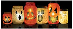 Ohio Wholesale Radiance Lighted Pumpkin Jar Canvas Wall Art, from our Halloween Collection