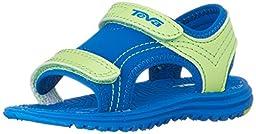 Teva Psyclone 6 Sandal (Toddler/Little Kid), Blue/Lime, 4 M US Toddler