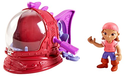Fisher-Price Disney Jake and The Never Land Pirates Izzy's Never Sea Mini-Sub - 1
