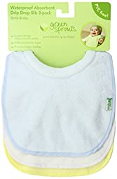 green sprouts Stay-dry Milk Catcher Bib, Aqua Set (3 Pack)