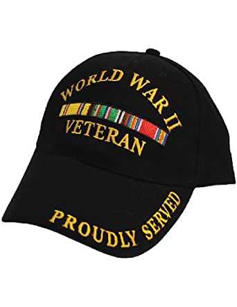 Veteran Proudly Served In WWII War Cap: Baseball Style Hat