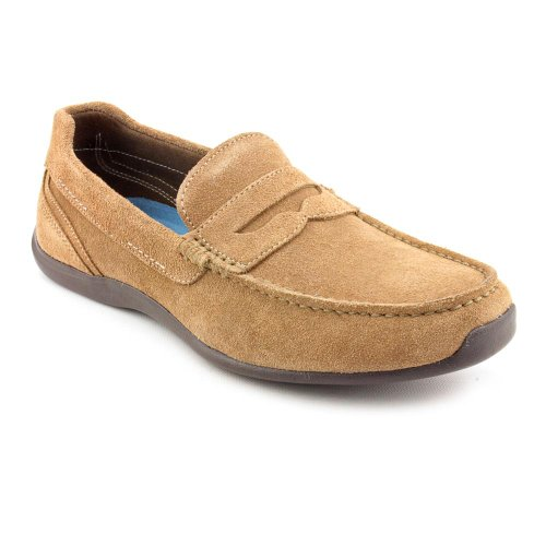 Rockport Drivesports Lite Penny Moc Loafers Shoes Brown Mens