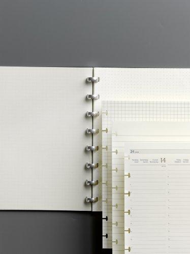 ATOMA Note, formato DIN A4, colore: panna a pois, 9 g/m2, 60 fogli