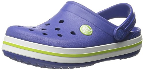 Crocs Crocband - Sabot Unisex-Bambini, Blu (Cerulean Blue/Volt Green 4Q8), 27-29
