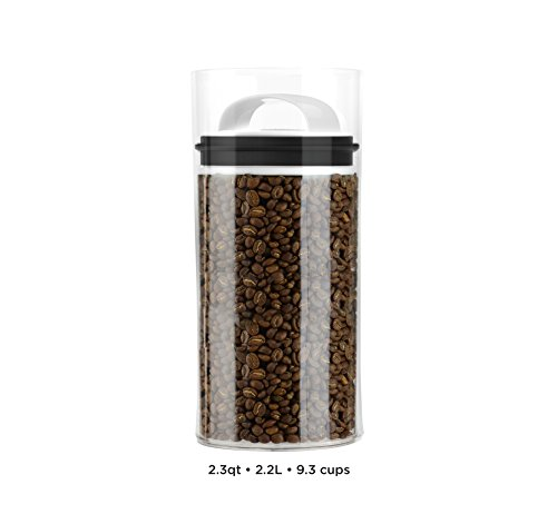 Evak Best Airless Storage Canisters, Patented & Designed in USA (Medium Tall) (Coffee Bar Storage compare prices)