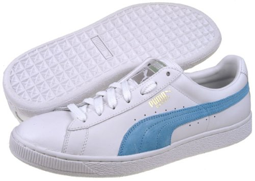 Buy Puma The Basket Leather Sneakers Shoes White Leather