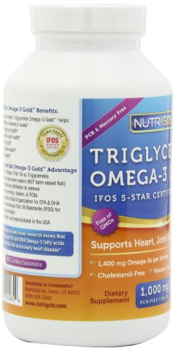Omega 3 fish oil capsules double strength omega 3 gold for Triglyceride fish oil