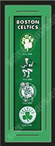 Heritage Banner Of Boston Celtics With Team Color Double Matting-Framed Awesome &... by Art and More, Davenport, IA