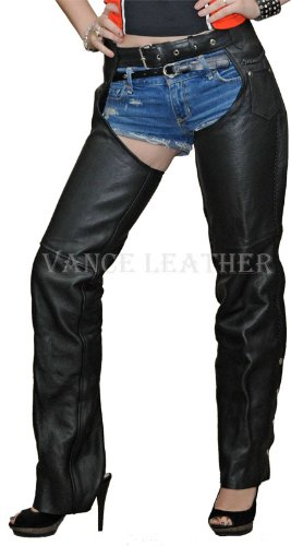 Unisex Leather Motorcycle Chaps