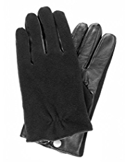 Leather Palm Touchscreen Gloves
