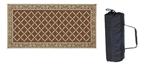 Reversible Mats 119187 Brown/Beige 9'x18' RV Patio Mat (Camping Outdoor Mat compare prices)