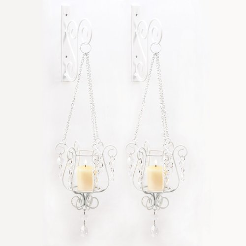 Gifts & Decor Bedazzling Pendant Candle Holder Wall Sconce Decor Pair front-417606