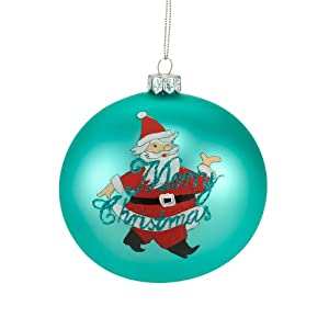 Department 56 The Signature Collection of Christmas Décor Painted Santa Polish Glass Ornament