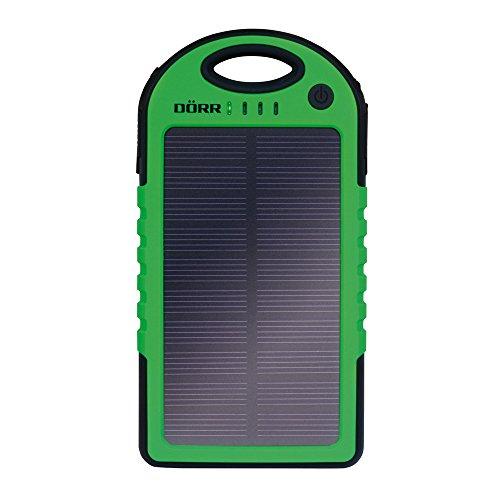 Dörr Solar Powerbank SC-5000 leistungsstarke und mobile Energiequelle für Smartphone/Tablet/Navigationssysteme/MP3-Player/Kamera 5000mAh/5V (25Wh) schwarz/grün