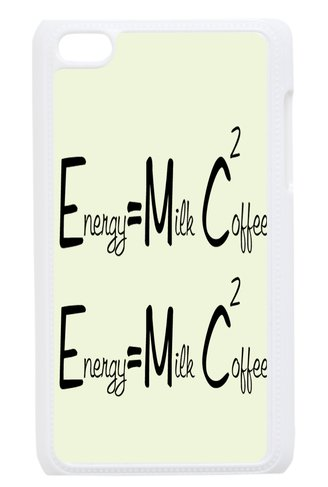 Back Case Durable E=Mc2 Energy Equals Milk Plus Coffee Case For Itouch Ipod Touch 4Th