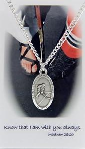Boys St. Christopher Ice Hockey Medal with Prayer Card