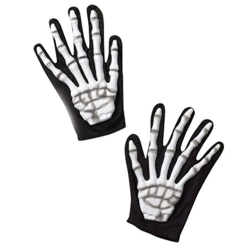 Costumes For All Occasions Ba31 Gloves Skeleton - 1