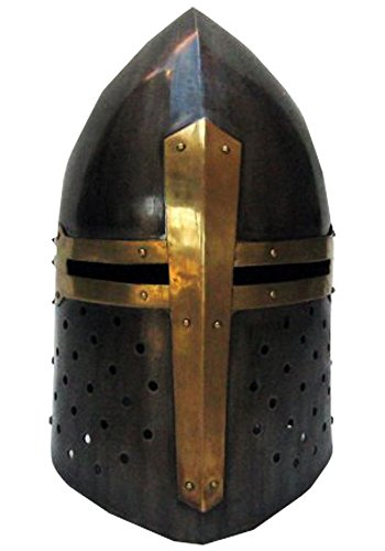 Sugarloaf-Style Crusader's Great Helmet - Wearable Costume Helmet
