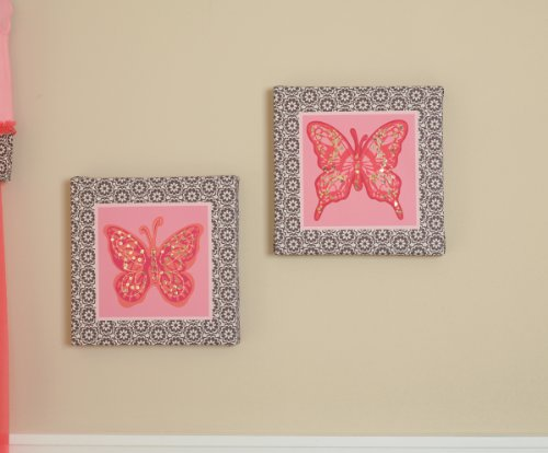 Summer Infant Juliette Butterfly Canvas Wall Art
