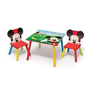 Delta, Set Tavolino per bambini 60 x 60 cm + 2 Sedie, in MDF   Valutazioni Valutazione