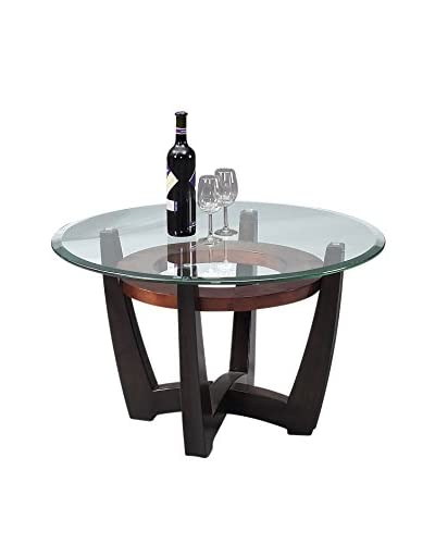 Bassett Mirror Company Elation Round Cocktail Table, Copper/Espresso