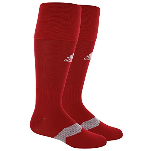 adidas Metro IV Soccer Socks, Power Red/White/Clear Grey, Medium (Red Football Socks compare prices)