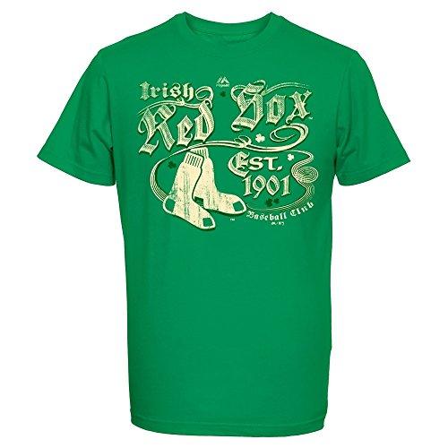 Majestic MLB BOSTON RED SOX St. Patrick's Day T-Shirt, Größe:L