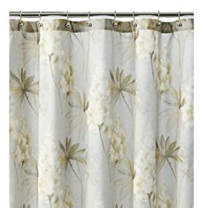 J Queen New York Acacia Floral Fabric Shower Curtain Home Kitchen