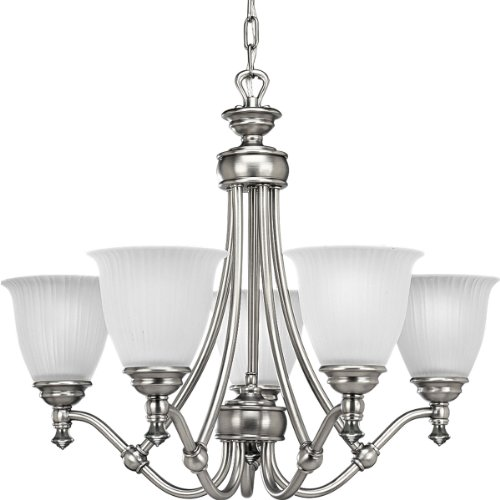 B0014HAOUO Progress Lighting P4115-81 5-Light Renovations Chandelier, Antique Nickel