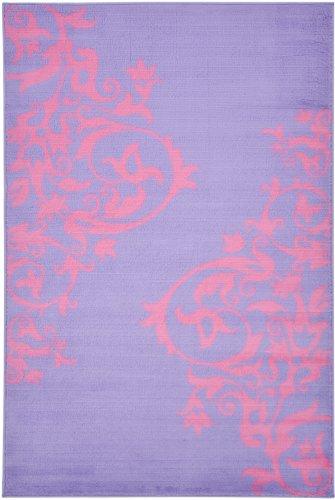 "Purple Contemporary Scrolls Design Kids Rug (5'0""X7'0"")"