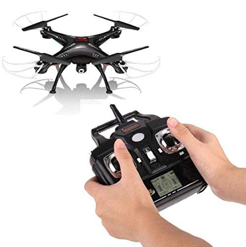 Sannysis Syma X5 X5C X5C-1 X5SW Control remoto para 2.4G 4 canales RC Quadcopter con cámara HD, color negro