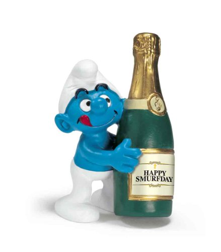 Bottle Smurf Toy Figurine - 1