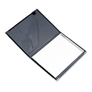 Samsill Letter Size Classic Padfolio with Brass Corners, Black (70010)