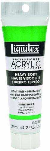 Liquitex Professional Heavy Body Acrylic Paint 2-Oz Tube, Light Green Permanent