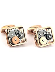 DeePerfetto Multicolor Alloy Cufflinks For Unisex(D4)
