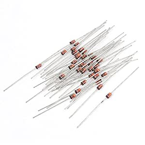 55Pcs Axial Leads 1N4733 5.1V 1W Glass Seal Silicon Zener Diodes