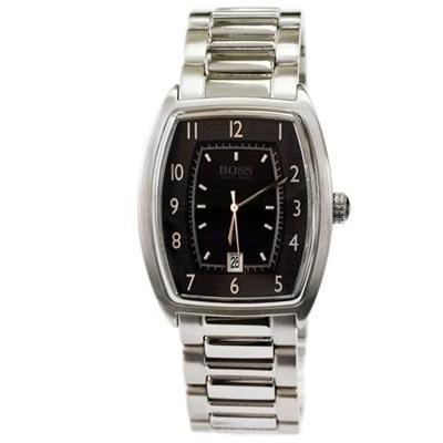 Hugo Boss Men's Stainless Steel Bracelet Watch, Black Dial 1512222