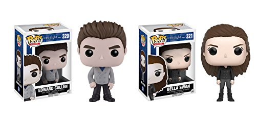 Funko POP! The Twilight Saga: Edward Cullen and Bella Swan Toy Action Figures - 2 POP BUNDLE