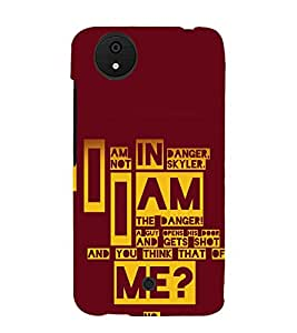 printtech Breaking Quote Bad Back Case Cover for Micromax Android A1 / Micromax Canvas A1 AQ4502