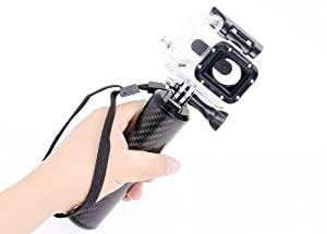 IT-SW-007: i.Trek Gopro Hero 1 2 3 3+ HD sports camera Carbon Fiber Floating Hand Grip Mount
