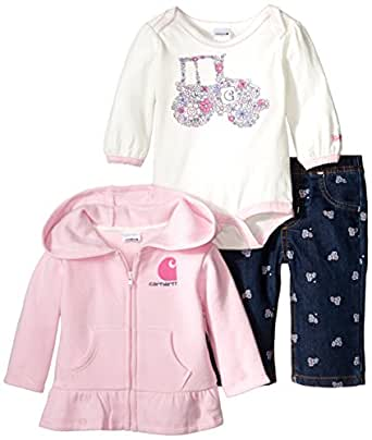 Amazon Carhartt Baby Girls Tractor 3 Piece Pant Set