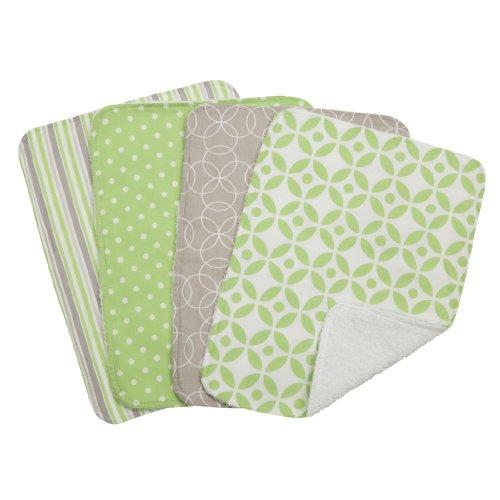 Trend Lab Lauren Burp Cloth Set, Green, 4 Count front-272257