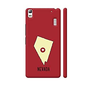 Colorpur Nevada State Heart Artwork On Lenovo A7000 Cover (Designer Mobile Back Case) | Artist: Torben
