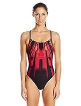 TYR Sport Women's Bravos Diamondfit Swimsuit, Red, 28