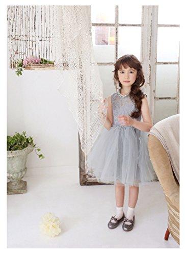 81af20f594f17  ノーブランド品  女の子 キッズ ふわふわ ドレス ワンピース リボン チュール ドレス 子供服 プリンセス