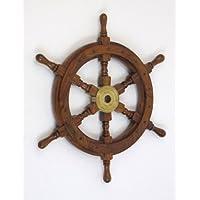18″ Ship Wheel Wooden: Pirate Boat Na…