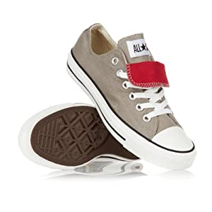 Converse All Star Double Tongue Shoes - Elephant Skin/Tomato